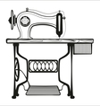 Sewing machine black lines vector image vector image