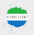 sierra leone watercolor national country flag vector image vector image
