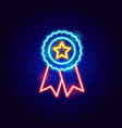 star honor neon sign vector image