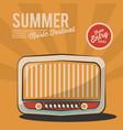 summer music festival radio vintage poster vector image vector image