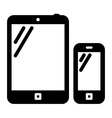 Tablet PC and mobile phone sign vector image vector image