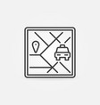 taxi navigation concept icon in thin line vector image