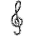 treble clef vector image vector image