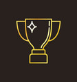 trophy cup concept colorful linear icon or vector image
