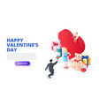 valentines day design concept with heart and vector image vector image