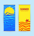 vertical summer discounts banner or roll up vector image