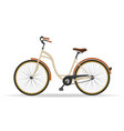 vintage bicycle isolated on white background vector image vector image