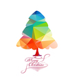We Wish You a Merry Christmas with geometrical vector image vector image