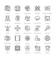 web design and development icons 13 vector image vector image