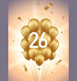 26th year anniversary background vector image vector image