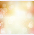 abstract bokeh blurry light dot autumn fall vector image vector image