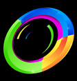 Abstract Colorful Circle Shape on Black Background vector image vector image