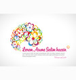 abstract floral rainbow flyer template vector image vector image