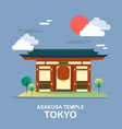 asakusa temple ancient place in tokyo design vector image vector image