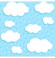 autumn rain vector image
