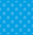 beekeeper pattern seamless blue vector image vector image