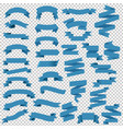 blue web ribbon big set transparent background vector image vector image