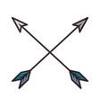 bow arrows crossed vector image vector image