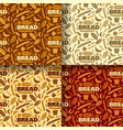 bread and bakery color seamless patterns vector image vector image