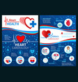 brochure of cardiology heart medicine vector image