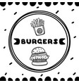 burgers cover for cafe sketch concept vector image
