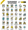 Business situations icons vector image