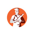 Chef Cook Rolling Pin Spatula Stencil vector image vector image