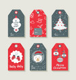 christmas set labels and tags for holiday gifts vector image