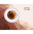 Coffee cup polygonal style menu vector image vector image