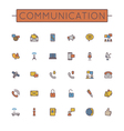Colored Communication Line Icons vector image vector image