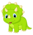 Cute baby triceratops cartoon vector image vector image