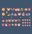 cute zodiac horoscope icons vector image