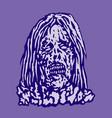 dangerous head of zombie woman vector image vector image