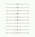 dividers set isolated vector image