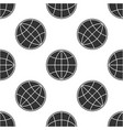 earth globe icon isolated seamless pattern on vector image