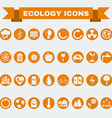 Ecology Big Icons Set vector image