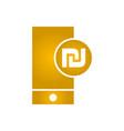 electronic money icon mobile icon shekel icon vector image vector image
