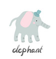 elephant print vector image vector image