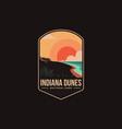 emblem patch logo indiana dunes national park vector image vector image