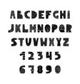 english alphabet in scandinavian vector image vector image