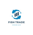 fish trade trading logo icon vector image