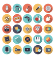 Flat design icons for leisure and entertainment vector image