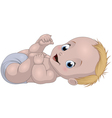 Funny baby smiling vector image vector image