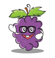 geek grape character cartoon collection vector image vector image
