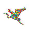 geometric heron vector image vector image