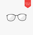 Glasses icon Flat design gray color symbol Modern vector image vector image