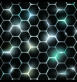 grid of honeycomb vector image vector image