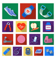 gym and training flat icons in set collection for vector image vector image