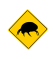 House dust mite warning sign vector image