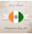 India Independence Day Holiday Tag vector image vector image
